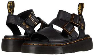 Dr. Martens Gryphon Platform Gladiator Sandals (Black) Women's Shoes