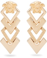 Versace Medusa tiered drop earrings