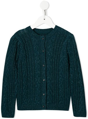 Velveteen Ava cable knit cardigan