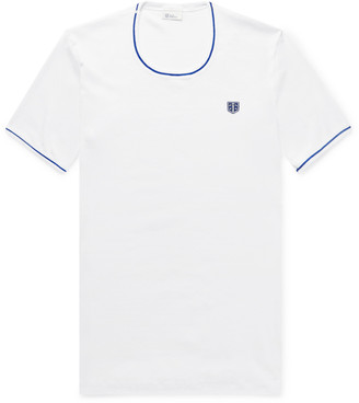 Schiesser Friedrich Contrast-Tipped Ribbed Cotton-Jersey T-Shirt