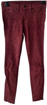 Rag & Bone Burgundy Suede Trousers for Women