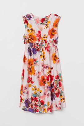H&M MAMA Smock-detail Dress - Pink