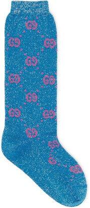 Gucci Children's cotton GG lame socks