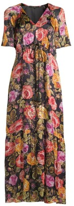 Kobi Halperin Noa Embellished Floral Peasant Dress