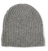 Frank & Oak Donegal Tweed Knit Beanie in Grey
