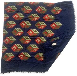 Gucci Blue Cashmere Scarves