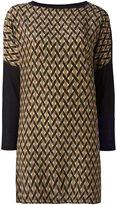 Agnona cashmere geometric pattern dress