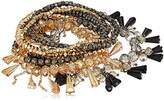 ABS by Allen Schwartz Smoke and Mirrors Beaded Stretch Bracelet