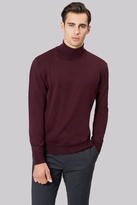 Moss Bros Wine Roll Neck Jumper