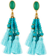 Nakamol Beaded Tassel Drop Earrings, Blue