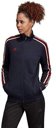adidas AFS Tiro Track Jacket (Legend Ink/Active Maroon/Glow Pink/White) Women's Coat