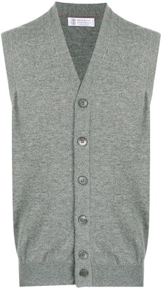 Brunello Cucinelli Button-Up Cashmere Vest