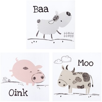 Trend Lab Farm Stack 3 Pack Canvas Wall Art Set