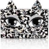 KARL LAGERFELD Choupette Glitter MinaudiereClutch Bag