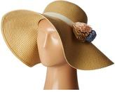 Calvin Klein Straw Flower Sun Hat Caps