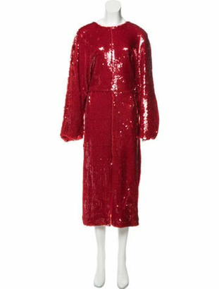 Sally LaPointe Sequined Midi Dress w/ Tags
