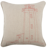 Thomas Paul Lighthouse Embroidered Pillow