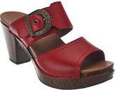 Dansko As Is Leather Double Strap Slide Sandals - Ramona