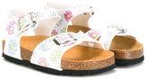 MonnaLisa floral print sandals - kids - Cotton/rubber - 31