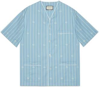 Gucci Double G stripe cotton oversize shirt