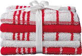 HOME Pack of 5 Terry Tea Towels - Red/White