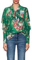 MANNING CARTELL Women's Flower Show Silk Blouse
