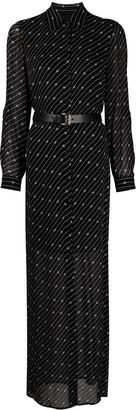 MICHAEL Michael Kors Monogram-Print Semi-Sheer Shirt Dress