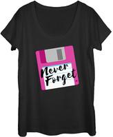 Chin Up Apparel Women's Tank Tops BLACK - Black 'Never Forget' Scoop Neck Tee - Women