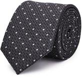 Reiss Klamm - Dotted Silk Tie in Grey, Mens
