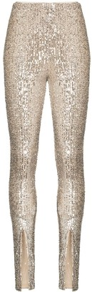 Rotate by Birger Christensen Alicia high-waist sequin trousers