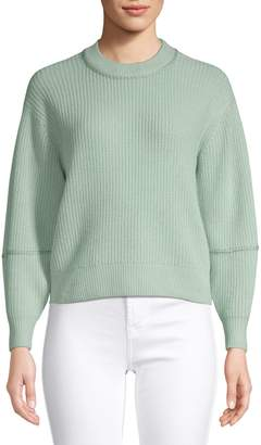 Joie Ribbed Wool Cashmere Cropped Sweater