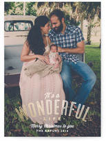 Minted A Wonderful Life Foil-Pressed Holiday Cards