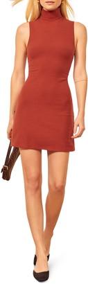 Reformation Paulina Rib Sleeveless Body-Con Minidress