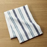 Crate & Barrel Farmhouse Aqua Striped Dish Towel