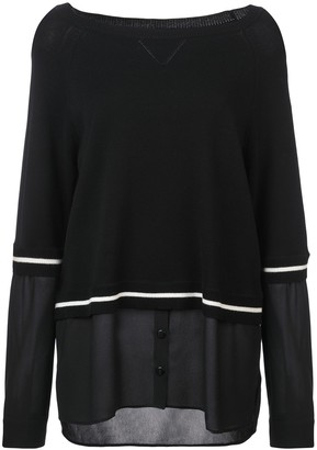 Nicole Miller Boat Neck Blouse