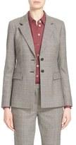 Nordstrom Women's Houndstooth Stretch Wool Jacket