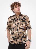 Michael Kors Slim-Fit Camo Cotton-Twill Shirt