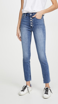 Paige Margot Skinny w/ Frayed Fly Slit + Inseam Slit + Raw Hem