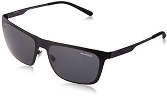 Arnette Men's AN3076 Back Side Rectangular Metal Sunglasses