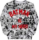 "Little Eleven Paris INFANTS' ""BATMAN IS MY HERO"" COTTON SWEATSHIRT"