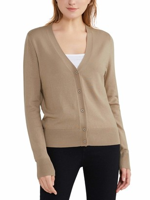 Woolen Bloom Women's Button Down Cardigan V Neck Ladies Cardigans Long Sleeve Open Front Knitted Sweater