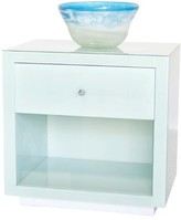 The Well Appointed House Worlds Away Farrah Translucent Glass Nightstand with White Base