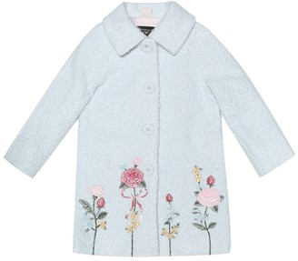 MonnaLisa Embroidered bouclA coat