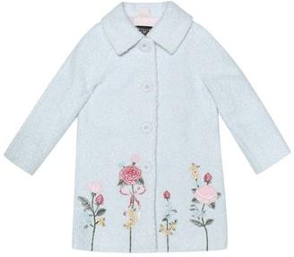 MonnaLisa Embroidered boucle coat