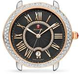 Michele Serein 16 Black Diamond Dial Watch Head, 34mm