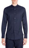 Emporio Armani Thin Cut Away Jacquard Shirt