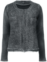 Avant Toi studded allover collarless jacket - women - Cotton/Linen/Flax/Polyamide - S
