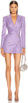 ATTICO Blazer Mini Dress in Lilac | FWRD
