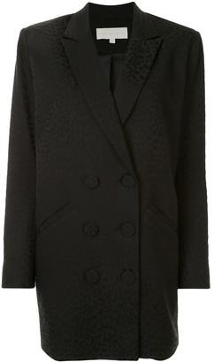 Mason by Michelle Mason Leopard-Jacquard Blazer Dress