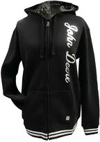John Deere Black Varsity Fleece Hoodie - Plus Too